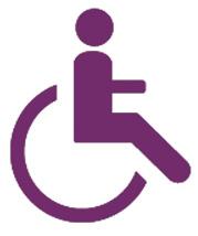 Logo Handicap Moteur Violet